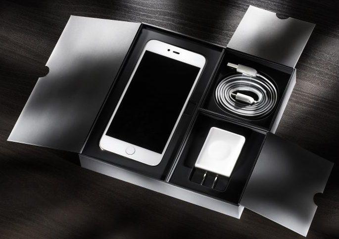 iPhone OVP Ladekabel und Stecker